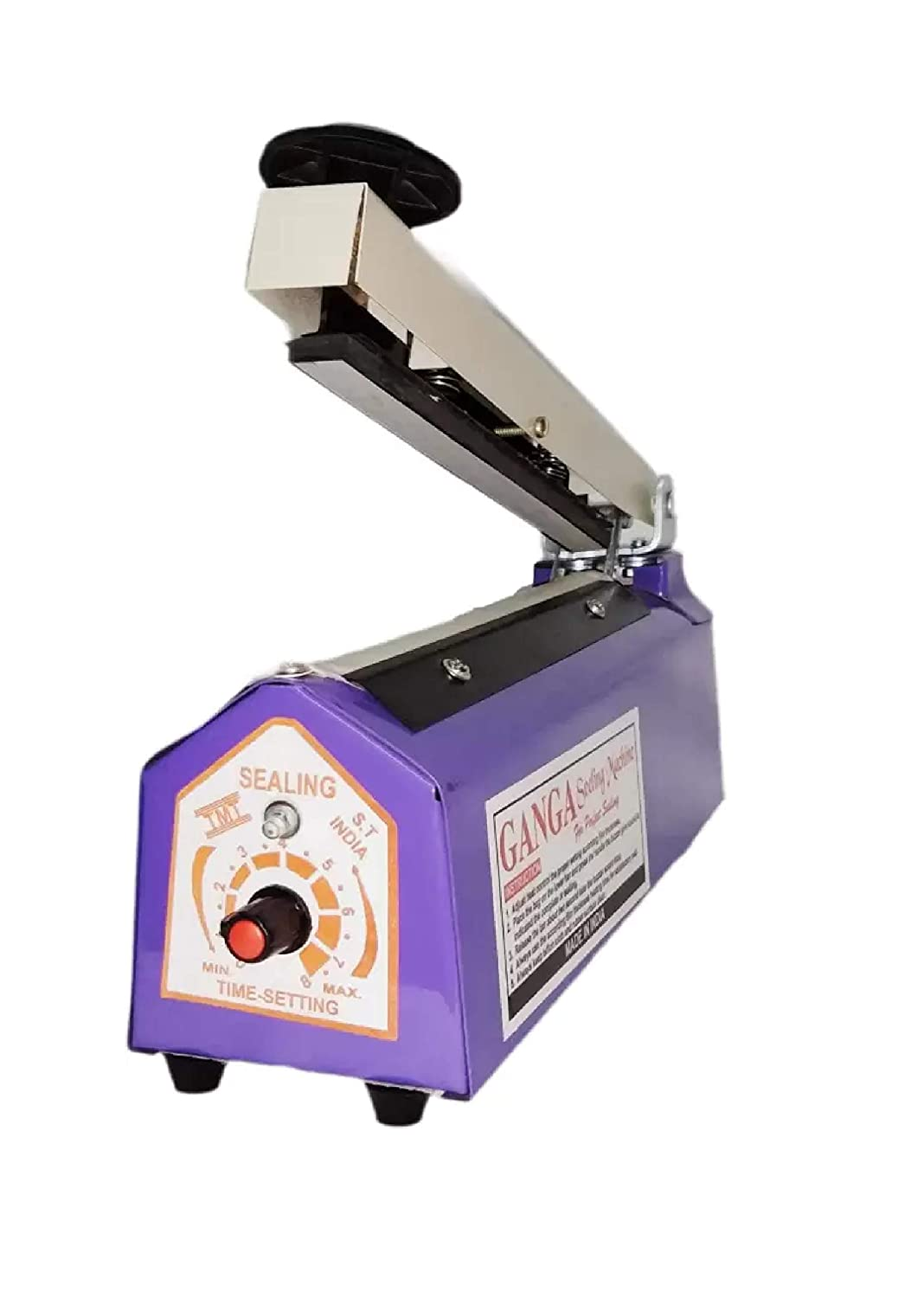 Ganga Table Top Hand Sealing Machine for Plastic Pouch Packing (8 inch)