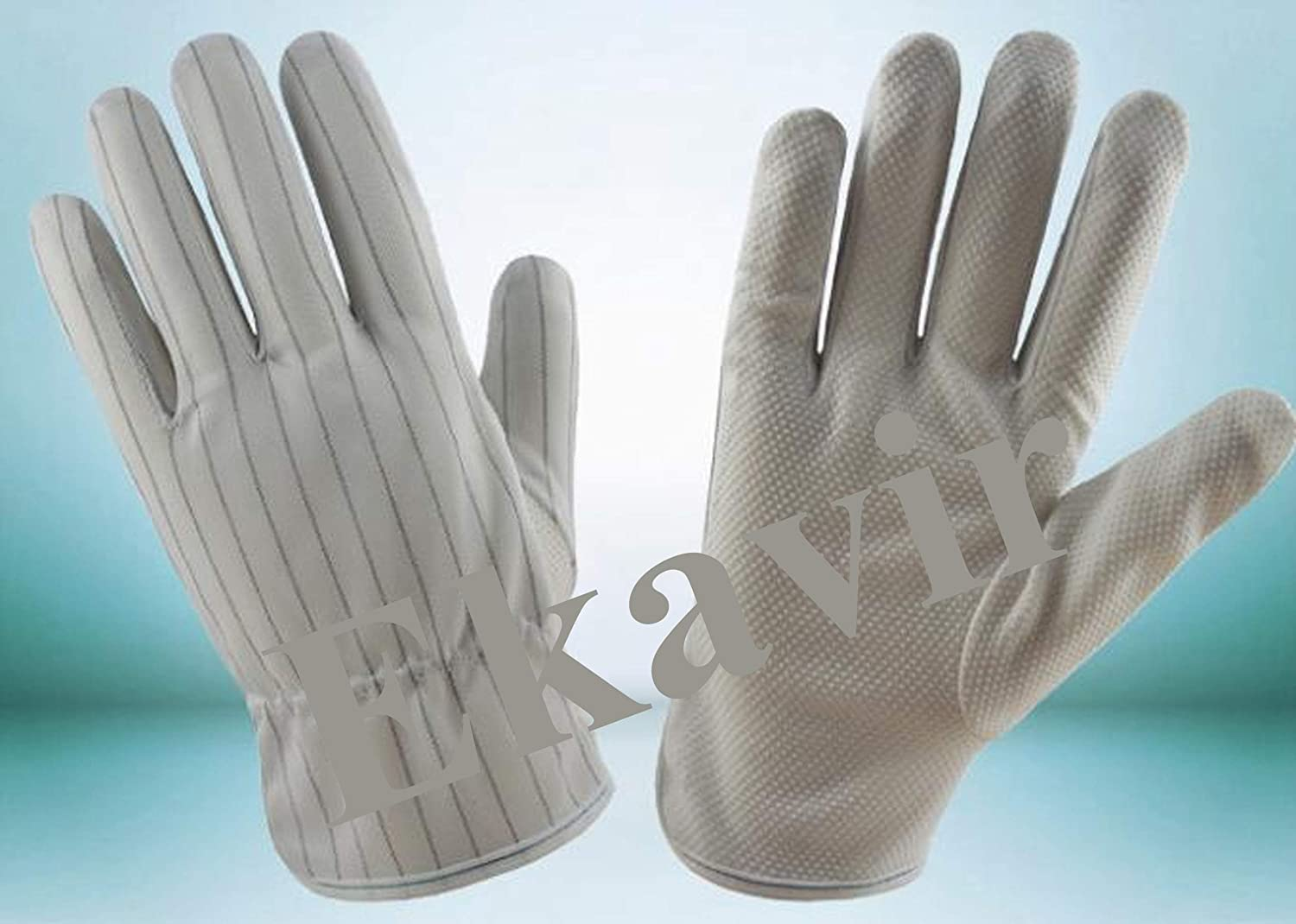 Ekavir ESD Safe Hand Gloves, Anti Static Hand Gloves, for Electronics Product use Computer, Mobile Repair Etc. (2 Pair)