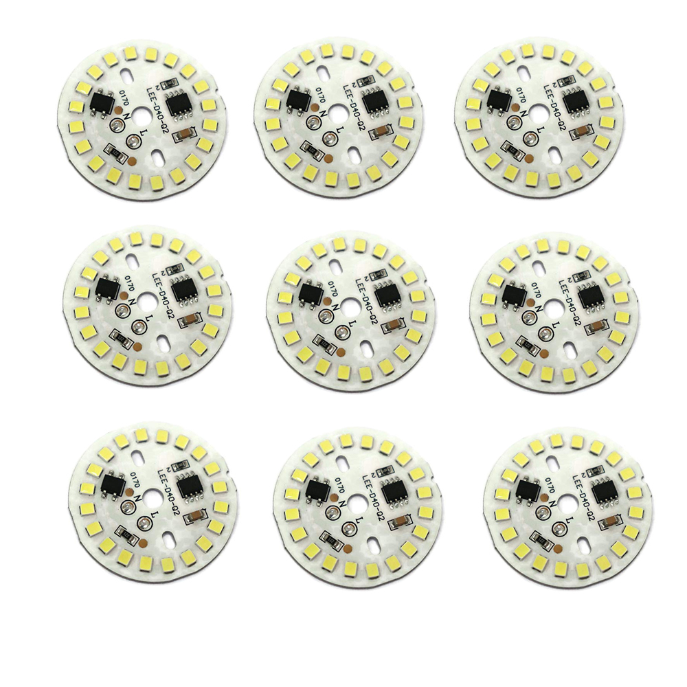 9 WATT DOB (Direct On Board) Warm White Color LED Bulb Raw Material of 9 Watt DOB (Direct On Board) Pack of 10 DOB PCB Only