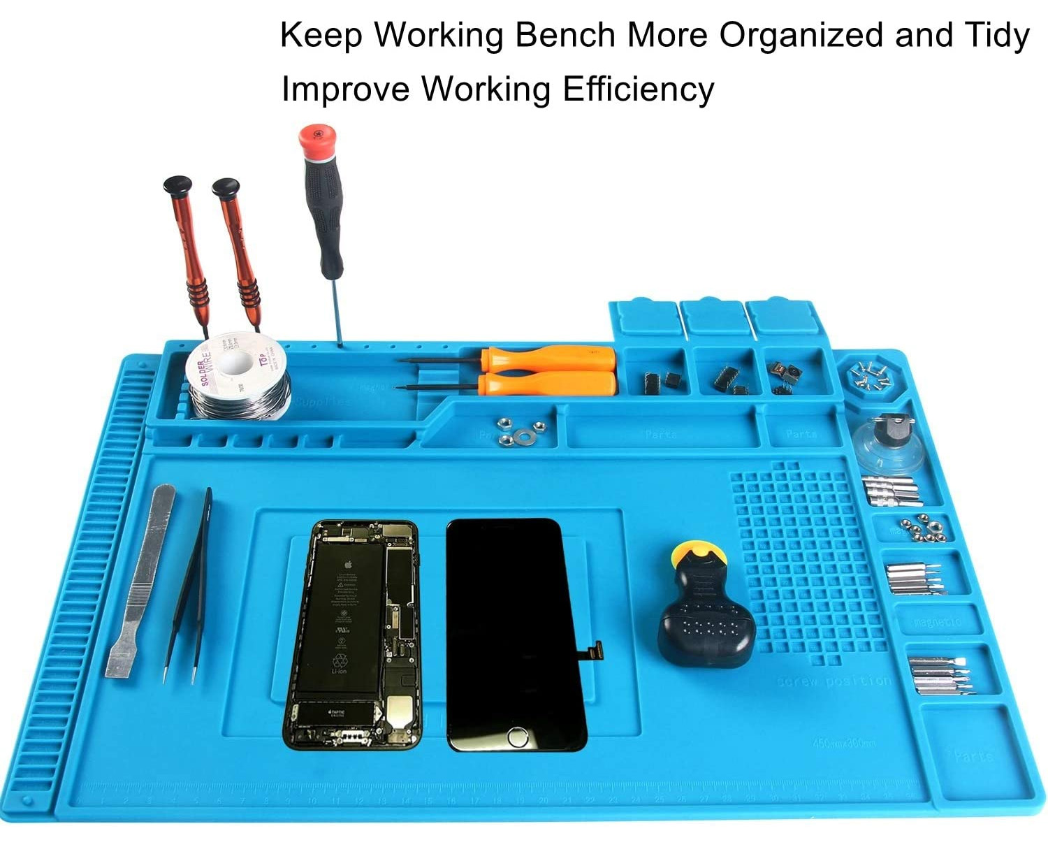 Repairing Soldering Silicone Magnetic Mat Anti Static ESD Safe Heat Insulation