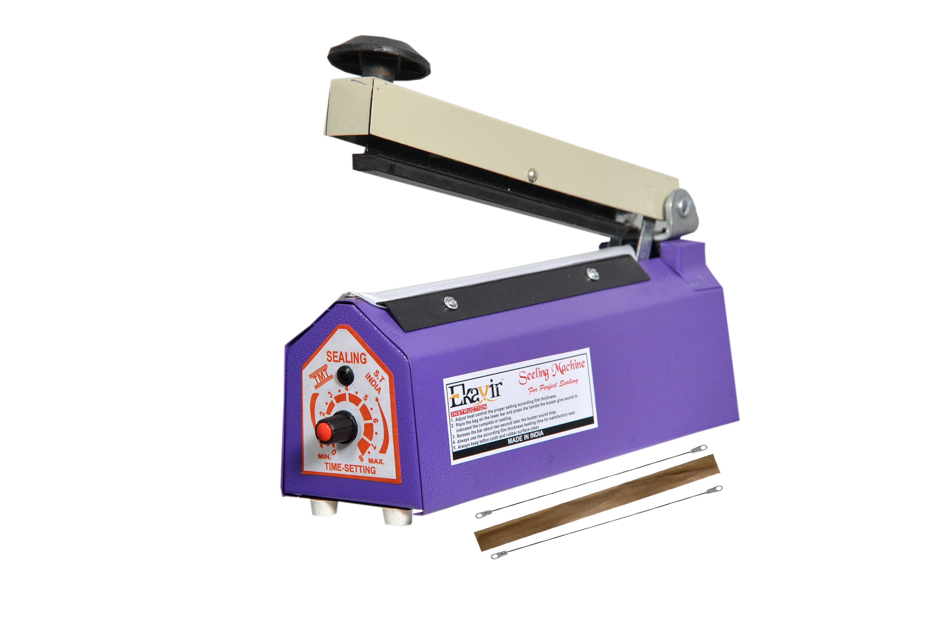 Ekavir Impulse Manual Hand Bag Sealer Polybag Heat Sealing Machine
