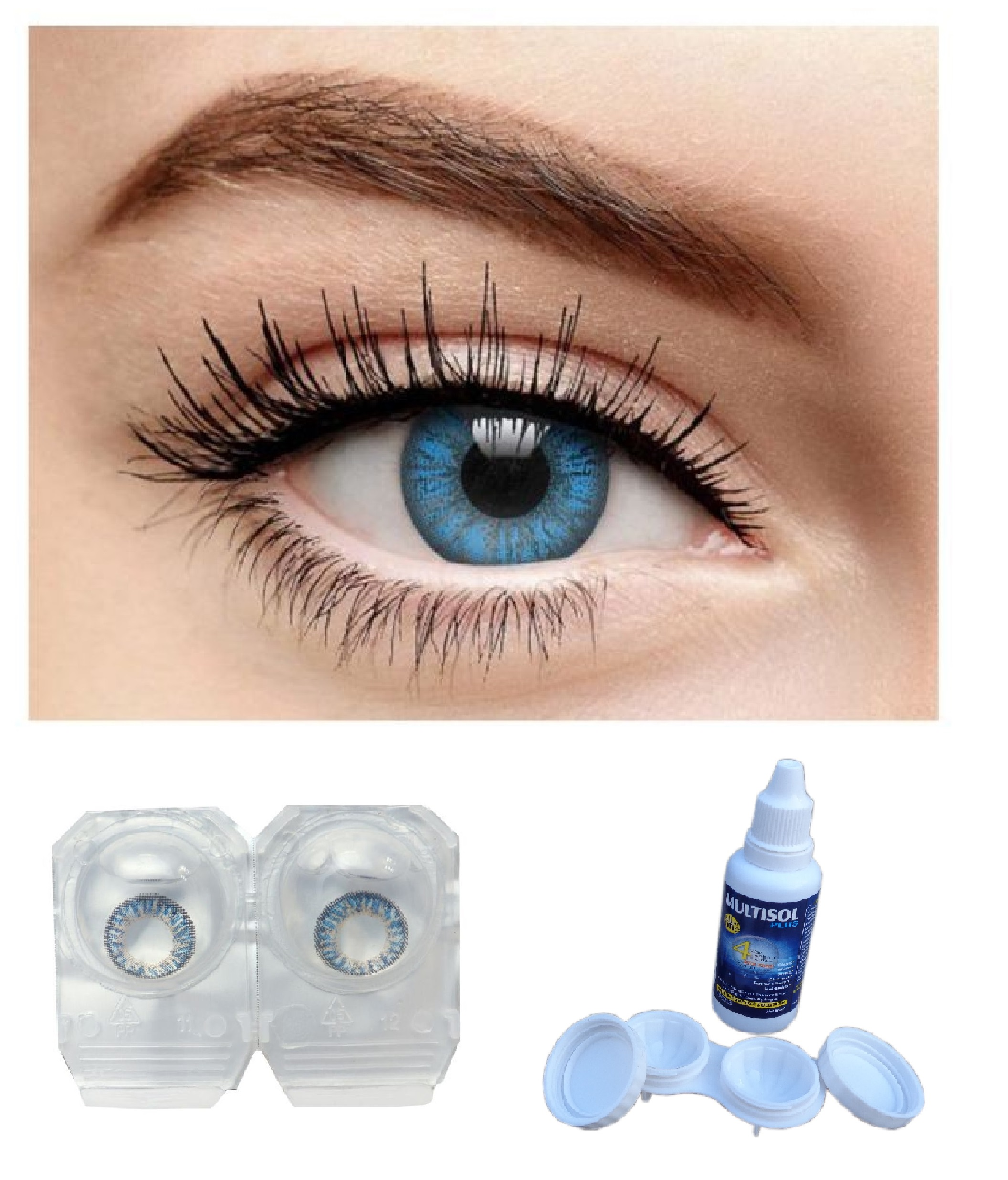 Coloured Contact Lenses Without Power, Weekly ( Dark Blue )
