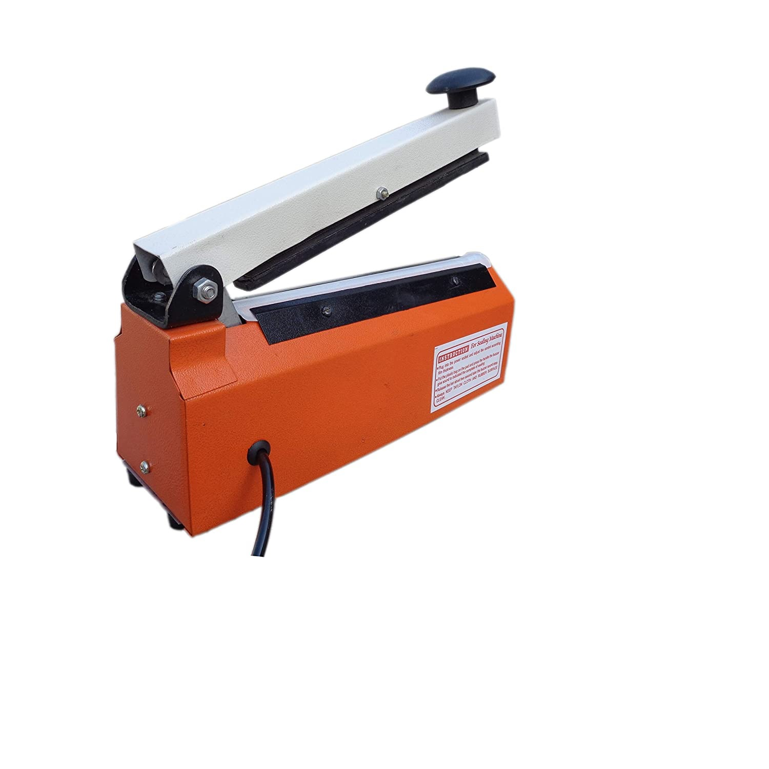 Karsyn Sealing Machine Hand Sealer Machine for Plastics Packaging Plastic Vacuum Manual (8 Inch; Multicolor).