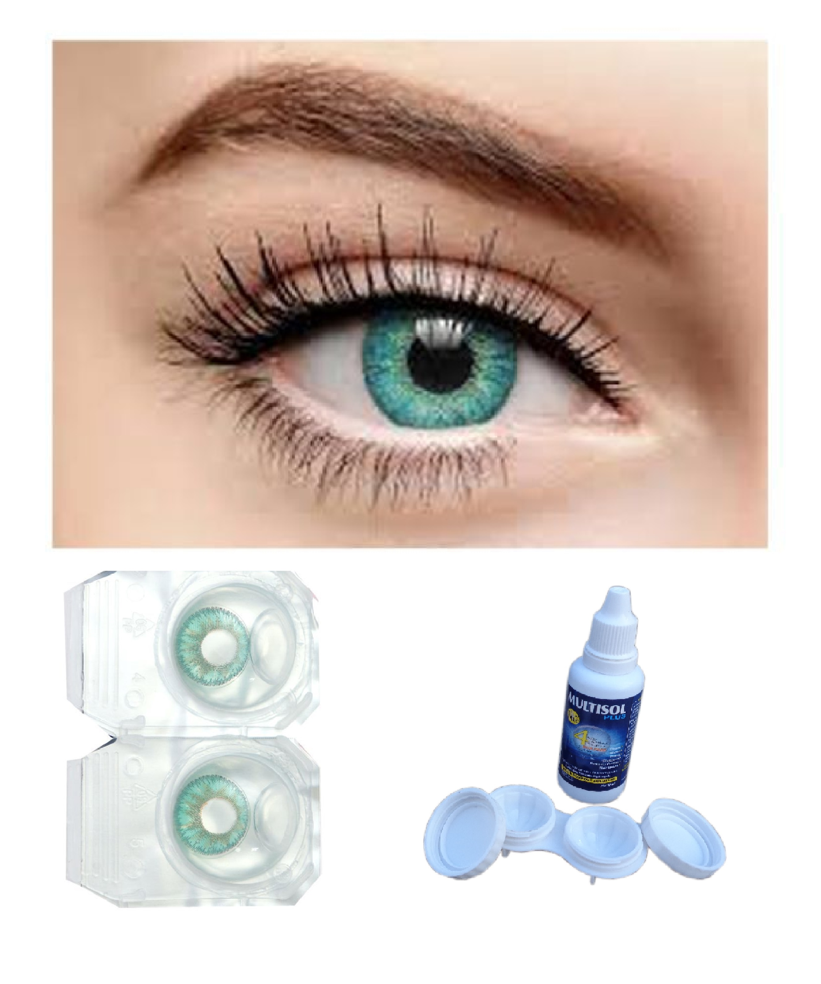 Ekavir Eye Colored Contact Lenses, 0 Power Weekly disposable convenience for fresh lens every day, (Green color )