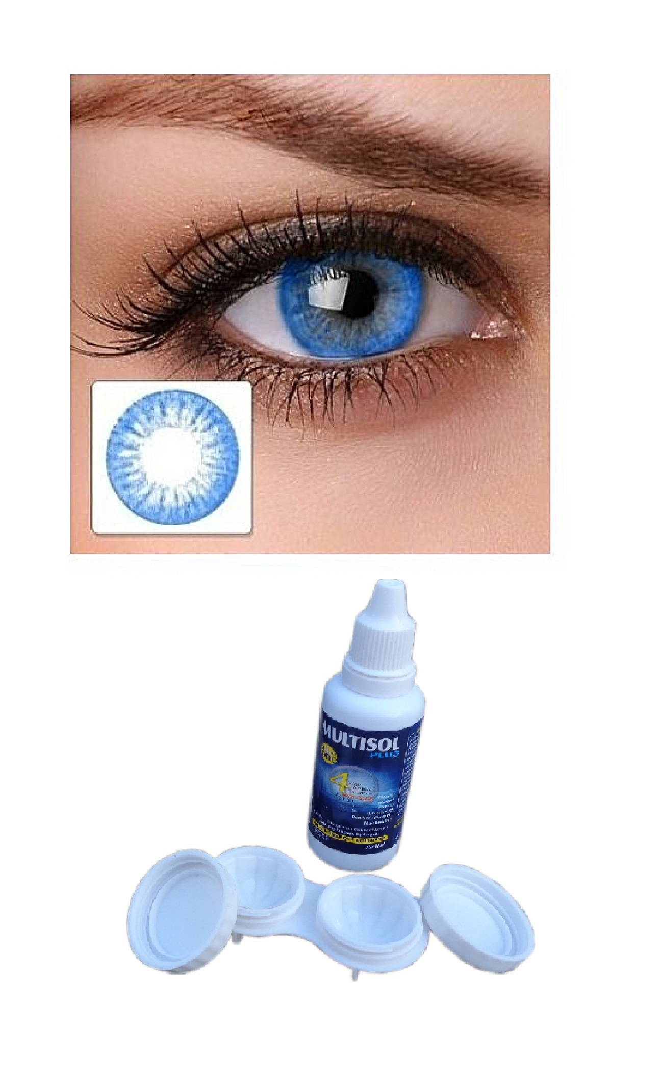 Colored Contact Eye Lenses Blue color Zero Power Weekly (1 pair)