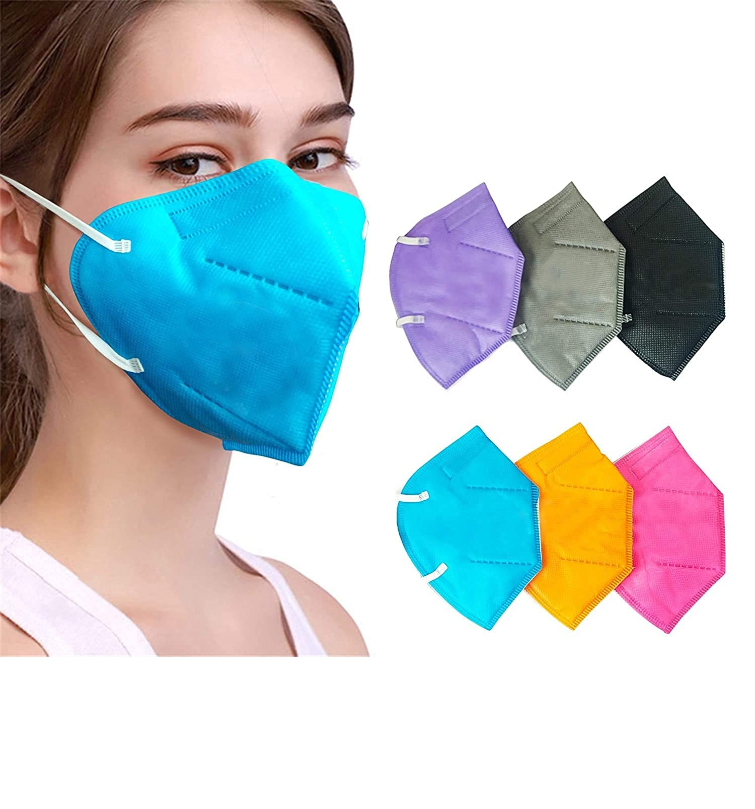 K-N95 Masks (Reusable) Without Air filter Washable Mask with Respirator (Pack Of 5).