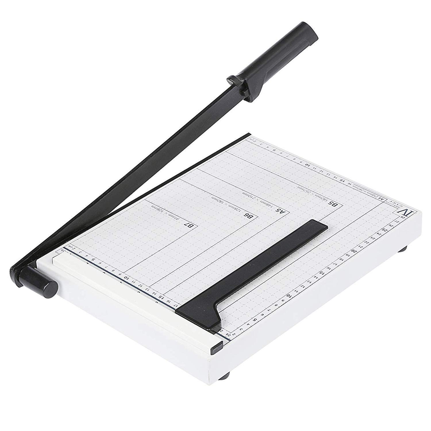 Ekavir Solid Paper Cutter Trimmer Cutters Metal Base 12 Inch Support A4/B5/B6/B7/A5 Post Card and Photo (L) Size Paper Cutting