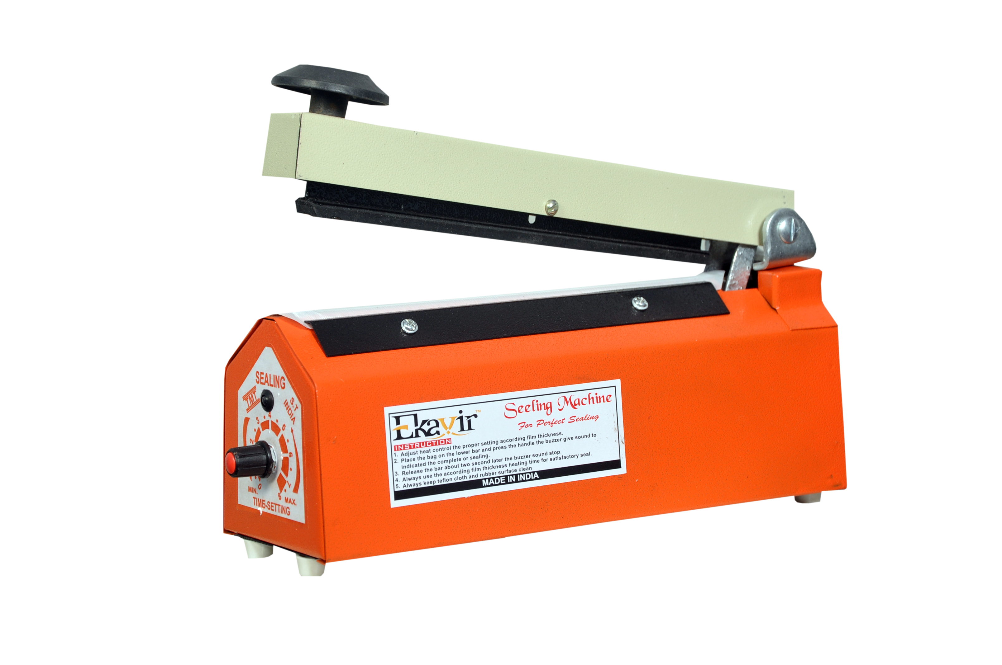 Sealing Machine PFS Impulse Bag Sealer Poly Bag Heat Seal Closer with Replacement Heating Element